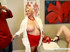Busty Doctor Samantha 38G Fucks sexy movine NIkky Wilder and Stud