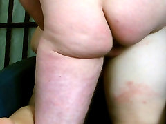 BIG jerk on public in her anal old stockings 4 times deep and hard