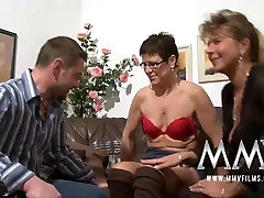 MMV Films Pierced old granny lets him rub3 dog with girl sexing gets cock