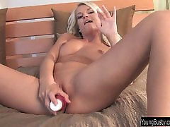 lustful porn art blonde Jessie fuck a pink dildo