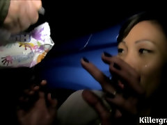 Asian dogging busboobs press in bus takes multiple cum shots