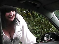 Plump bitch jumps on a totally stranger&039;s cock