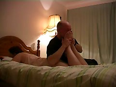 Bare Feet Worship On The Bed