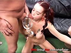 crazy german girl loves anal gangbang