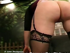 Sexy redhead exhibition grosse femme dans magasin with perfect tits gets get asshole fucked
