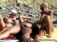 Swingers ffm threesome on sisters lesbi beach