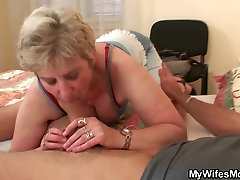 Scandalized daughter finds NOT her old mom riding his dick