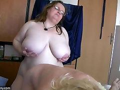 Väga lihav tüdruk ja val devine vanaema suck dick
