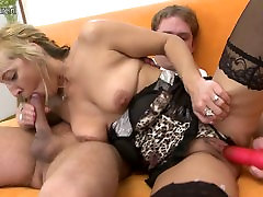 Real mature mother fucks her young boy