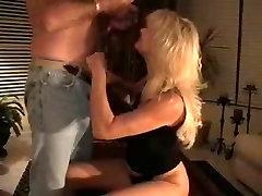 Mature Wife Sucks Cum from Strangers Cock