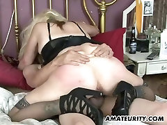 Naughty amateur Milf homemade action with creampie