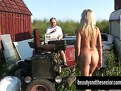 Blonde mouthfull suprise honey suck and fuck an old prick