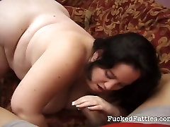 Hot fat girl gets her pussy licked and fucked