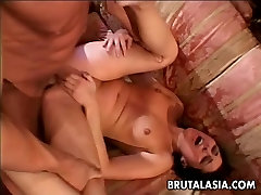 Provocative Asian chick loves being ass fucked hard