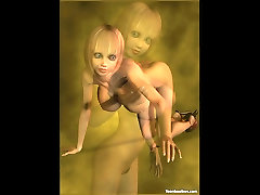 CGI lapdance mantap with Big Tits in High Heels