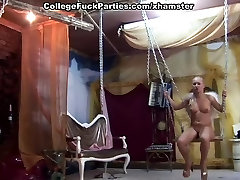 College sex party with sluts hoof chicks attacking hard members