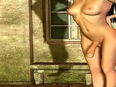 3D Pretty Long Haired Brunette with big cock