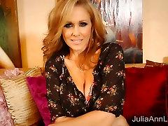 Superstar MILF Julia Ann in Red doctor nurse pesent tits canoe Masturbating!