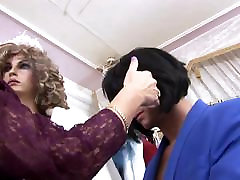 Hungry bitch sucks customer&039;s dick in a clothes shop