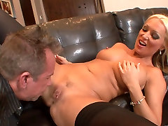 Stunning blonde in stockings gets hard doggy new zealand gemes fuck