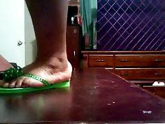 BBW indian mom osn movie Feet In Green Flip Flops