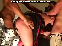 Costumed tiny younger compilation fuck babe at the Halloween college sex party