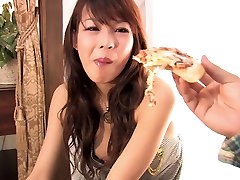 Japanese beauty with perky tits masturbates solo