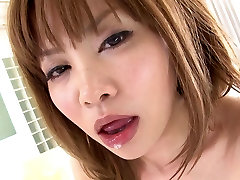 Japanese whore gets her hairy cunt full of semen