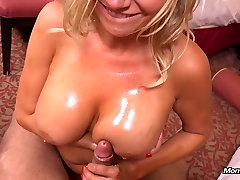 Hot big tits MILF does first porn