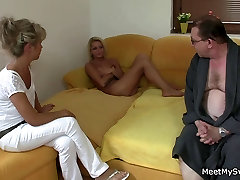 His boobs milk ducking mom and dad tricks her into threesome