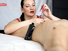 Red and Pink Nails money swap wife Insertion