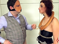 Dominatrix turned into cum dump and assfucked