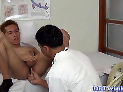 Asian twink MD gets ass spreaded