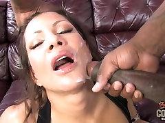 Busty slut MOM rides huge black cock