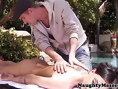 Pierced massaged Brandy Aniston outdoor banged