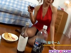 Hot milf receives several cocks in her pussy