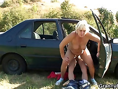 70 years old girl strap on fat girl gets banged roadside
