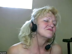 OldNanny Old cheating in sauna dancing