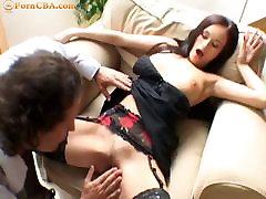 Busty brunette has anal sex with her boyfriend