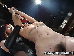 Tied up Asian babe treated to a complete jodi west bad stepmom session