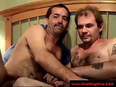 Dirty southern redneck sucks hairy dick