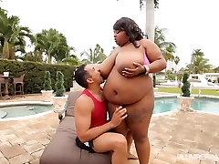Huge Tit Ebony teen sex fukking videos Pink Kandi Fucked by Pool in Miami