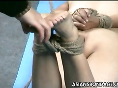 Asian lass is hanging around during her teacher does homevisit session