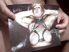 Tribute for bonmature - cum covered face and tits