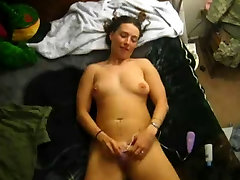 My Chubby Ex girlfriend Cumming with her favorite tied up groping toy