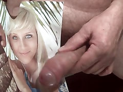 Tribute for maxt123 - facial cum in her mouth