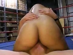 Black jordi anal milg fucked in boxingring