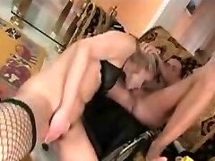Hairy blonde babe anal fucked