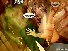 Green Rage Interracial 3D Comic