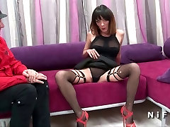 Pretty brunette hard analized and facialized for her wife exchange soup